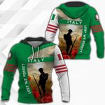 Italy Lest We Forget All Over Print Hoodies