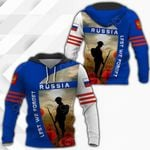Russia Lest We Forget All Over Print Hoodies