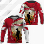United States Lest We Forget All Over Print Hoodies