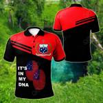 Samoa DNA - Red All Over Print Polo Shirt