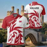 Welsh Dragon Red All Over Print Polo Shirt