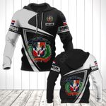 Customize Dominican Republic Coat Of Arms - Flag V3 All Over Print Hoodies