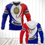 Customize France Coat Of Arms Flag - New Form All Over Print Hoodies