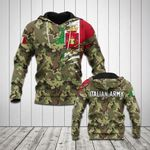 Italian Army Symbol And Flag Camo All Over Print Hoodies