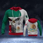 Mexico Flag Spartan Helmet All Over Print Hoodies