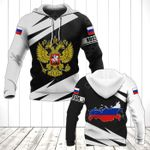 Russia Coat Of Arms - Map Special Version All Over Print Hoodies