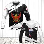 Thailand Coat Of Arms - Map Special Version All Over Print Hoodies