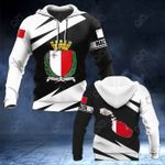 Malta Coat Of Arms - Map Special Version All Over Print Hoodies