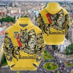 Romania Dacian Wolf All Over Print Hoodies