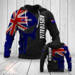 Customize Australia Skull Style All Over Print Hoodies