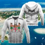 Fiji Tapa Athletics Style All Over Print Hoodies