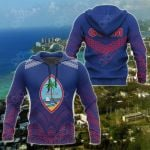 Guam Polynesian Athletics Style All Over Print Hoodies