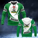 Customize Nigeria Coat Of Arms Flag - New Form All Over Print Hoodies