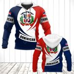 Customize Dominican Coat Of Arms Flag - New Form All Over Print Hoodies