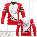 Customize Poland Coat Of Arms Flag - New Form All Over Print Hoodies