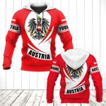 Customize Austria Coat Of Arms Flag - New Form All Over Print Hoodies