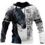Love Horse Friesian Horse All Over Print Shirts