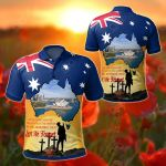 Australia Anzac Day - Today's Peace Is Yesterday's Sacrifice All Over Print Polo Shirt