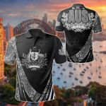 Australia Coat Of Arms Aboriginal Patterns All Over Print Polo Shirt