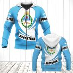 Customize Argentina Coat Of Arms Flag - New Form All Over Print Hoodies