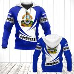 Customize Honduras Coat Of Arms Flag - New Form All Over Print Hoodies