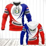 Customize Paraguay Coat Of Arms Flag - New Form All Over Print Hoodies