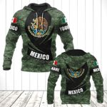 Customize Mexico Coat Of Arms Camo - New Form All Over Print Hoodies