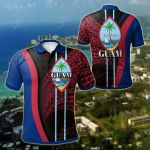 Guam Special Style All Over Print Polo Shirt