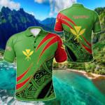 Hawaii Kanaka Maoli Symmetrical Lines All Over Print Polo Shirt