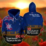 Australia Anzac Remembers Lest We Forget All Over Print Hoodies