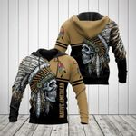Native American Skull With Feather Hat All Over Print Hoodies
