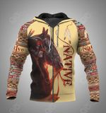 Native Horse Feather Pattern All Over Print Hoodies