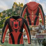 Albania In My Heart Version All Over Print Hoodies