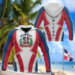 Dominican Republic In My Heart All Over Print Hoodies