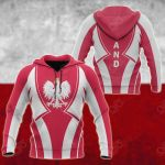 Poland In My Heart All Over Print Hoodies