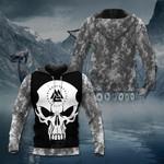 Viking Skull Camo All Over Print Hoodies