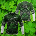Irish Saint Patrick's Day Shamrock Celtic Cross Version All Over Print Shirts