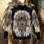 Wolf Native American All Over Print Shirts