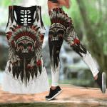 Skull Native Hollow Tank Top Or Legging