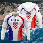 Croatia Coat Of Arms New Style All Over Print Hoodies