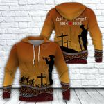 Australia Anzac Day Our Heroes All Over Print Hoodies