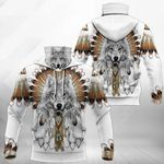Native American Wolf All Over Print Neck Gaiter Hoodie