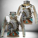 Native American All Over Print Neck Gaiter Hoodie