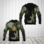 Customize New Irish Army Symbol All Over Print Hoodies