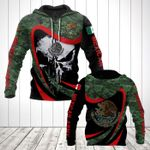 Mexican Army Camo New Skull All Over Print Hoodies