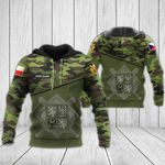 Customize Army Of The Czech Republic All Over Print Hoodies