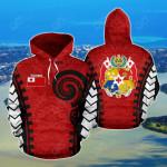 Tonga Warrior Style All Over Print Hoodies