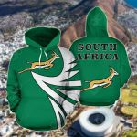 South Africa Springbok - Warrior Style V2 All Over Print Hoodies