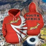 South Africa Springbok - Warrior Style V3 All Over Print Hoodies
