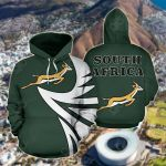 South Africa Springbok - Warrior Style All Over Print Hoodies